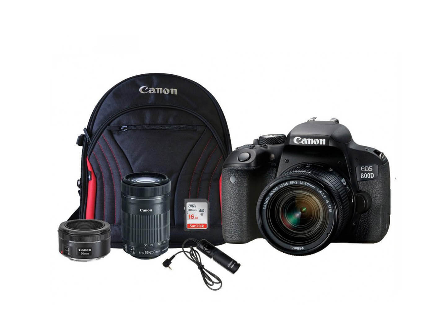 CANON EOS 800D TRIPLE LENS BUNDLE